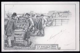 589 - BELGIQUE  - LIEGE - La Batte à LIEGE - Le Marchand D'Oiseaux - Dos Non Divisé - Herstal