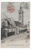 (RECTO/VERSO) COGNAC EN 1904 - N° 8 - PLACE D' ARMES ET EGLISE SAINT LEGER - BEAU CACHET - CPA - Cognac