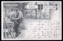 594 - BELGIQUE  - LIEGE - SOUVENIR DU PAYS DE LIEGE - Nos Armuriers - Dos Non Divisé - Herstal