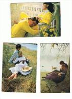 LOT DE 5 CARTES COUPLES - Cartoline