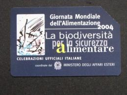 505 GOLDEN EURO - GIORNATA MONDIALI ALIMENTAZIONE 2004 BIODIVERSITA' - USATA PERFETTA - Pubbliche Pubblicitarie