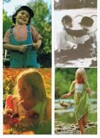 LOT DE 8 CARTES ENFANTS - Postcards