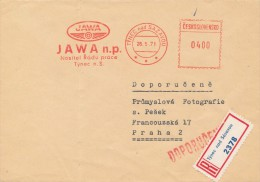 K4283 - Czechoslovakia (1971) Tynec Nad Sazavou: JAWA (logo) Nat. Corporation (manufacturer Road And Racing Motorcycles) - Motorbikes