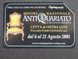 515 GOLDEN EURO - MOSTRA ANTIQUARIATO OSTRA - USATA PERFETTA - Public Advertising