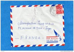 MARCOPHILIE-lettre FM-TCHAD -cad-fort Archambault-1959- Timbres FM  N°12-pour Françe