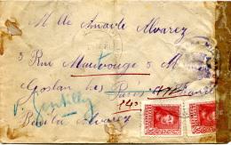 ESPAGNE 1938 - Letttre Censurée Pour Gentilly France - Marcas De Censura Nacional
