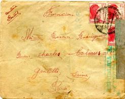 ESPAGNE 1939- Letttre Censurée Pour Gentilly France - Marcas De Censura Nacional