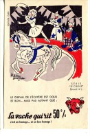 Buvard Vache Qui Rit Série Cirque N° 1 - Cheval, Clown - Alimentare