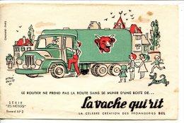 """Buvard La Vache Qui Rit Série """"les Métiers"""" N°1- Le Routier - Alimentare"""
