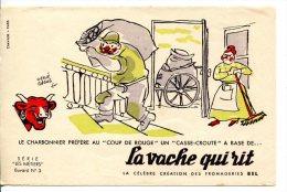 """Buvard La Vache Qui Rit Série """"les Métiers"""" N°3- Le Charbonnier Livre Du Charbon - Alimentare"""