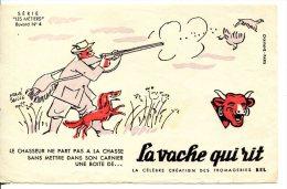 """Buvard La Vache Qui Rit Série """"les Métiers"""" N°4 - Le Chasseur - Alimentare"""