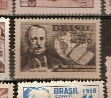 Brazil * &  Centenary Of Spiritualism Coding, Allan Kardec 1957 (628) - Theologians