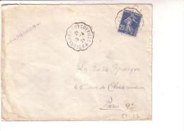 Convoyeur Esternay à Longueville Marne Seine Et Marne 1924 - Railway Post