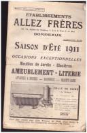Catalogue ALLEZ FR BORDEAUX 1911(meubles, Jeux, Quincaillerie Etc Etc ) (PPP1785) - Frankrijk