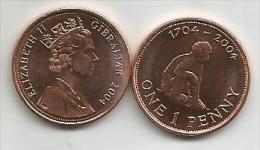 Gibraltar 1 Penny 2004. UNC - Gibraltar