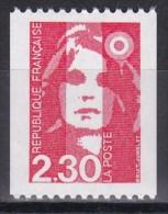 2628Marianne Du Bicentenaire 2f30 Rouge (roulette Sans Numéro Rouge) - 1989-96 Marianna Del Bicentenario