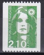 2627Marianne Du Bicentenaire 2f10 Vert (roulette Sans Numéro Rouge) - 1989-96 Marianna Del Bicentenario