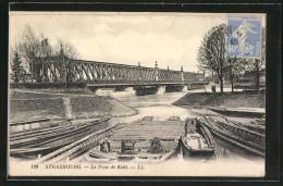CPA Strasbourg, Le Pont De Kehl, Bâteaux - Strasbourg
