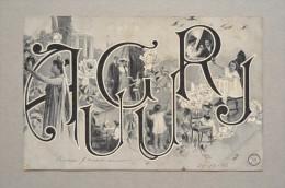 Cartolina/postcard AUGURI (bambini, Innamorati, Donnina...) 1906 - Auguri - Feste