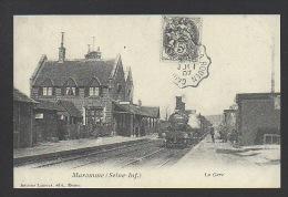 DF / 76 SEINE MARITIME / MAROMME / LE TRAIN EN GARE / CHEMIN DE FER - Stations With Trains