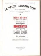 La Petite Illustration N° 788 - 5 Septembre 1936 - Lilian Hellman - LES INNOCENTES - Libros, Revistas, Cómics