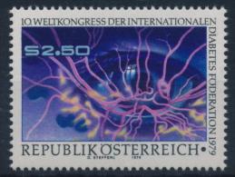 **Austria 1979 ANK 1649 Mi 1618 (1) Diabetes Health MNH - 1945-.... 2ème République