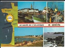 CPM - 44 -  LE CROISIC  - Rare Multivues  -  An Soleil De L'Atlantique   - Très Bon état - - Le Croisic