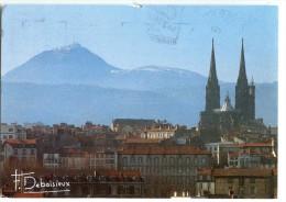 Francis DEBAISIEUX - La Cathédrale De Clermont-Ferrand Et Au Loin Le Puy De Dôme - écrite (jeu) Et Timbrée - 2 Scans - Clermont Ferrand