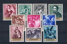 Spanien 1969 Gemälde Mi.Nr. 1796/805 Kpl. Satz ** - 1931-Oggi: 2. Rep. - ... Juan Carlos I