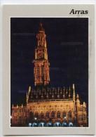 ARRAS - L'Hôtel De Ville La Nuit - écrite (jeu-concours) Et Timbrée - 2 Scans - Arras