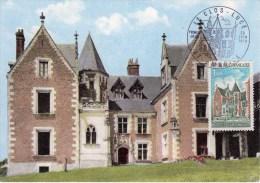 AMBOISE  -  LE CLOS LUCE Oblitération 1er Jour Illustrée  édition Combier - 1970-79