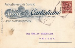 SIENA 1903 - CARTOLINA PUBBLICITARIA / ANTICA FERRARECCIA SENESE -  SX170 - 1900-44 Vittorio Emanuele III
