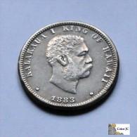 Hawaii - 1/4 Dollar - 1883 - Monnaies