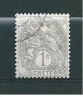 Crete Bureaux Francais Timbres De 1902/03  N°1  Oblitéré - Usati
