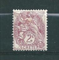 Crete Bureaux Francais Timbres De 1902/03  N°2  Neuf * - Nuovi