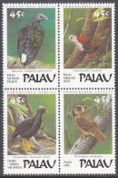 PALAU, 1989 FOREST BIRDS BLOCK 4 MNH - Palau