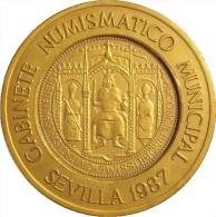 ESPAÑA. MEDALLA 400 ANIVERSARIO DE LA CASA DE LA MONEDA DE SEVILLA. 1.987. ESPAGNE. SPAIN - Profesionales/De Sociedad