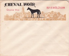 ENVELOPPE CHEVAL NOIR GRAND VIN ST-EMILION./ 6358 - France