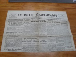 Le Petit Dauphinois  17 Mai  1943 - Kranten