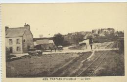 29, Finistère, TREFLEZ, La Gare, Animations, Scan Recto-Verso - France
