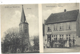 WUSTROW     KIRCHE  -- GASTWIRTSCHAFT  J.  KELLING - Allemagne