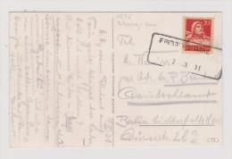 Heimat FR FRIBOURG GARE 1931-03-07 Aushilfs-Stempel Auf AK Nach Berlin - Suisse