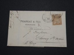 FRANCE - Perforés - Type Sage Perforé  PF Sur Lettre ( Avec Texte) - A Voir - Lot  P13592 - Perforés