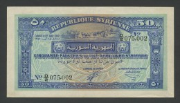 SYRIA - 50 Piastres  1942  P52  Uncirculated-60  ( Banknotes ) - Syria