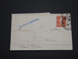 FRANCE - Perforés - Type Semeuse Perforé VB Sur Lettre ( Avec Texte) - A Voir - Lot  P13603 - Perforés