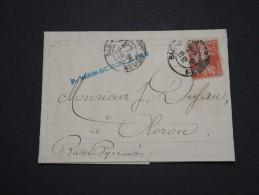 FRANCE - Perforés - Type Semeuse Perforé VB Sur Lettre ( Avec Texte) - A Voir - Lot  P13604 - Perforés