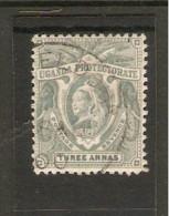 UGANDA 1898  3a  Pale Grey SG 87  FINE USED  Cat £45 - Uganda (...-1962)