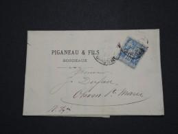 FRANCE - Perforés - Type Sage Perforé PF Sur Lettre ( Avec Texte) - A Voir - Lot  P13607 - Perforés