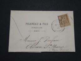 FRANCE - Perforés - Type Sage Perforé PF Sur Lettre ( Avec Texte) - A Voir - Lot  P13608 - Perforés