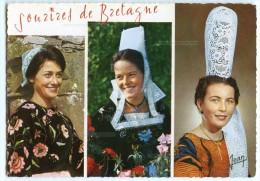 Sourires De Bretagne - Coiffes Costumes De Ploudergat Près Douarnenez, Quimper, St-Guénolé Penmarc'h - écrite - 2 Scans - France